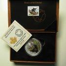 2015 Proof $20 Baby Animals #4-Black Bear Cub Coin&Stamp set Canada .9999 silver twenty