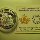 2015 Proof $5 Bank Notes #4-Barclay's Bank Vignette 1929 COIN&COA ONLY Canada .9999 silver five