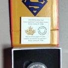 2014 Proof $10 Iconic Superman Comics #1 .9999 silver Canada ten dollars