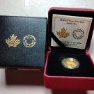 2014 Proof $10 1/4oz .9999 gold Arctic Fox Canada ten dollars COA #0002!