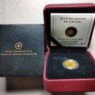 2013 Proof $5 Chinese Calendar #2-Year Snake 1/10oz .9999 gold Canada five dollars