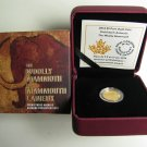 2014 Proof $5 Prehistoric Animals #1-Woolly Mammoth 1/10oz .9999 gold Canada five dollars