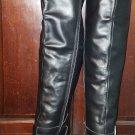 Rare Vintage Ellie Scroundrel Black Leather Thigh High Stiletto Heel Boots 9 Fetish