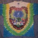Grateful Dead 1997 Scarlet Fire Tie Dye Shirt Dragon Bears Tea Liquid Blue XL