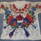 VINTAGE GRATEFUL DEAD GUITARS SKULLS & ROSES ALL OVER 1992 SHIRT XL 2 SIDED