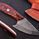 8 inches Custom Handmade Damascus Knife with Rose Wood Handle
