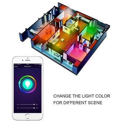 Smart WiFi LED Bulb - 600 Lumens, 16 Million Colors, Amazon Echo Compatible