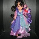 TCFC Vintage Lady Lovely Locks: Dutchess RavenWaves  w/2 Gnome pixies