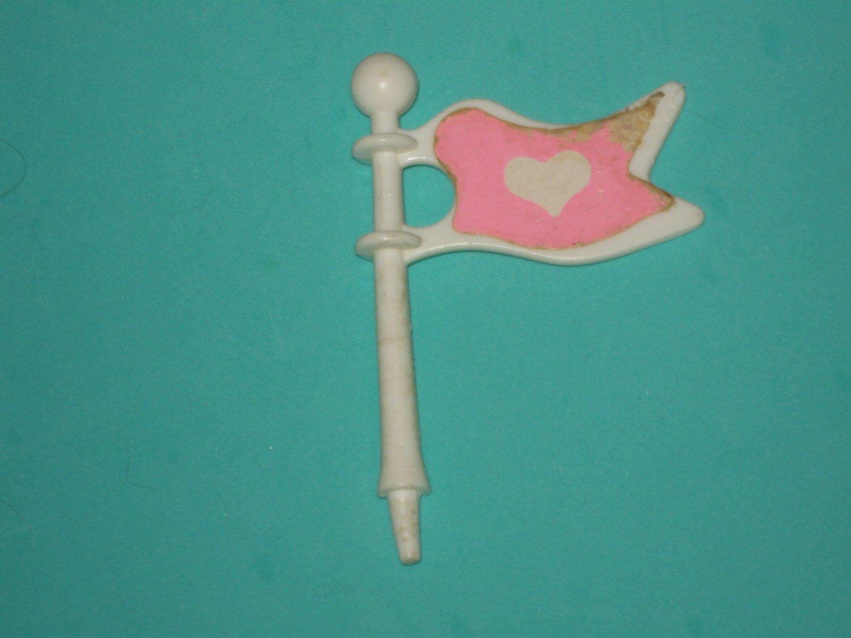 Vintage G 1 My Little Pony MLP - Flag - Pink - Lemon Drop's Show Stable