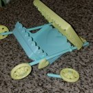 Vintage G 1 My Little Pony MLP - BROKEN NBT STROLLER yellow / aqua  BROKEN Newborn