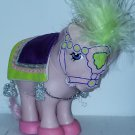 Vintage G 1 My Little Pony MLP - ponywear - Parade Pizzazz - FREE TLC Concave Collector Cotton Candy