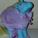 Vintage G 1 My Little Pony MLP - ponywear - Sweetness n Lace - FREE TLC Unicorn DJ