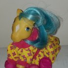 Vintage G 1 My Little Pony MLP - ponywear - Pony Holiday - FREE TLC Seated Bubbles