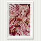 Anime Flower Girl cross stitch pattern in pdf