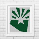 Arizona State Star silhouette cross stitch pattern in pdf