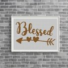Blessed text silhouette cross stitch pattern in pdf