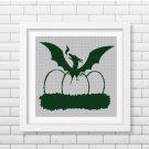 Born to Dragon silhouette cross stitch pattern in pdf