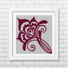 Art Flower silhouette cross stitch pattern in pdf