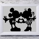 Classic Minnie and Mickey - Disney Lovers silhouette cross stitch pattern in pdf