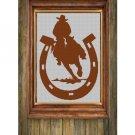 Cowboy in horseshoe silhouette cross stitch pattern in pdf