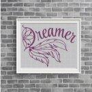 Dreamer silhouette cross stitch pattern in pdf