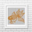 Gold Fish 2 silhouette cross stitch pattern