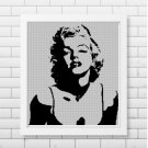 Marilyn Monroe silhouette cross stitch pattern in pdf