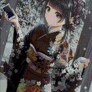 Girl in kimono anime cross stitch pattern in pdf ANCHOR
