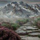 Mountains landscape cross stitch pattern in pdf-Chart Needlework Craft