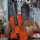 Still life with violin cross stitch pattern in pdf-Chart Needlework Craft