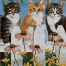 Cats on the fence cross stitch pattern in pdf ANCHOR
