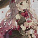 Girl with bunny anime cross stitch pattern in pdf