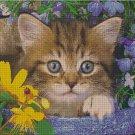 Kitty among the flowers cross stitch pattern pdf