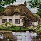 Landscape with swan cross stitch pattern pdf
