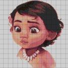 Little MOANA cross stitch pattern in pdf
