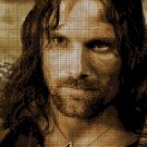 ARAGORN 2 - The Lord of the Rings character cross stitch pattern in pdf ANCHOR