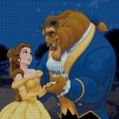 Beauty and the Beast - cartoon cross stitch pattern in pdf ANCHOR