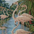 Flamingos2 nature cross stitch pattern in pdf ANCHOR