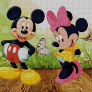 Mickey and Minnie Mouse cross stitch pattern in pdf ANCHOR