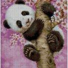 Panda in pink- cross stitch pattern in pdf ANCHOR
