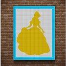 Belle 2 silhouette cross stitch pattern in pdf