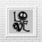 Jack and Sally love silhouette cross stitch pattern in pdf