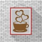 Love my cappuccino silhouette cross stitch pattern in pdf
