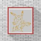 Pokemon Art silhouette cross stitch pattern in pdf