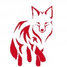 Red fox silhouette cross stitch pattern in pdf