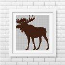 Reindeer silhouette cross stitch pattern in pdf