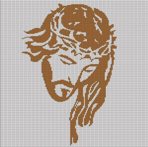 Jesus Face Crochet Afghan Pattern Graph
