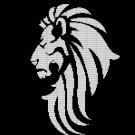 BLACK LION HEAD CROCHET AFGHAN PATTERN GRAPH