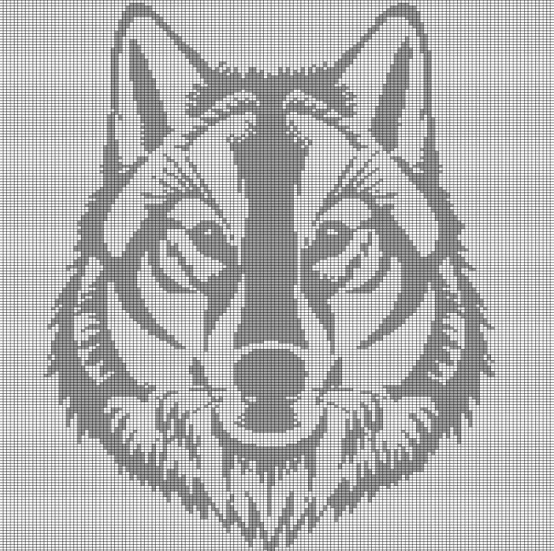 GREY WOLF HEAD CROCHET AFGHAN PATTERN GRAPH