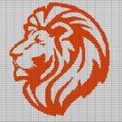 LION HEAD2 CROCHET AFGHAN PATTERN GRAPH